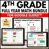 4th Grade Google Classroom Math Activities Bundle | Distan