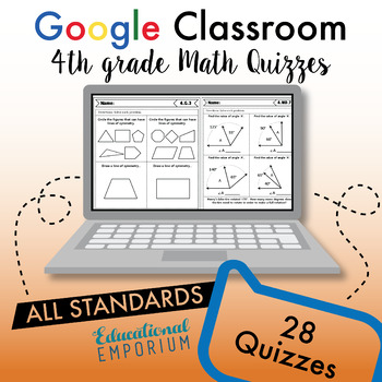 4th Grade Google Classroom Math Bundle, Interactive Digital Math Resources, 4th