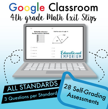 ⭐The ULTIMATE 4th Grade Google Classroom Math Bundle⭐ Distance Learning