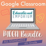 4th Grade Google Classroom Math Bundle, Interactive Digita