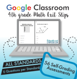 4th Grade Google Classroom Math Exit Slips, Auto-Graded Exit Tickets, Digital