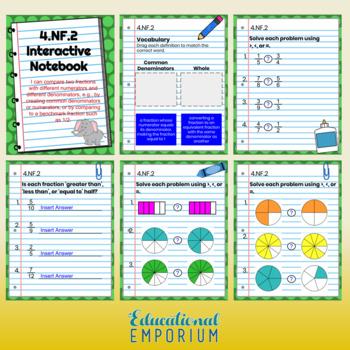 4th Grade Google Classroom Math Interactive Notebook, Digital: All Standards