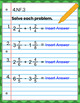 4th Grade Google Classroom Math Interactive Notebook, Digital: Fraction Domain