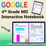 4th Grade Google Classroom Math Interactive Notebook,Digital: Measurement & Data