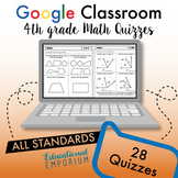 4th Grade Math Assessments ⭐ Quizzes for Google Classroom™