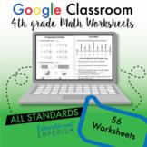 4th Grade Google Classroom Math Worksheets, Digital Math Worksheets, 4th Grade