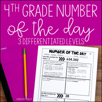 4th Grade Number of the Day