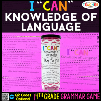 4th Grade Grammar Game | Knowledge of Language &  Modal Auxiliaries