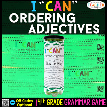4th Grade Ordering Adjectives Game