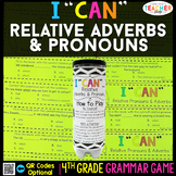 4th Grade Relative Pronouns & Relative Adverbs Game