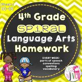 Grammar / Language Spiral Homework Weeks 10-18 (4th Grade)