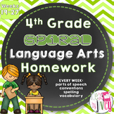 Grammar / Language Spiral Homework Weeks 19-27 (4th Grade)