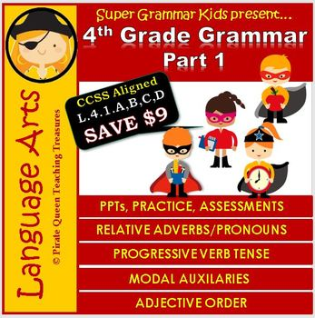 4th Grade Grammar Part 1/ CCSS Aligned 4th Grade Up