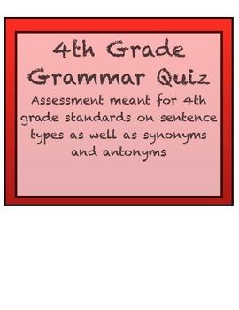 4th Grade Grammar Quiz
