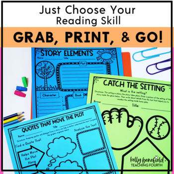Graphic Organizers Bundle for Reading Grades 3-5
