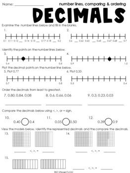 4th Grade Guided Math Decimals