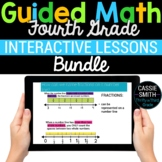 4th Grade Math Google Classroom Digital Bundle (For Distan