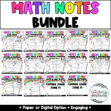 4th Grade Guided Math Notes Bundle