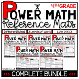 4th Grade Guided Math Reference Mats COMPLETE BUNDLE Small