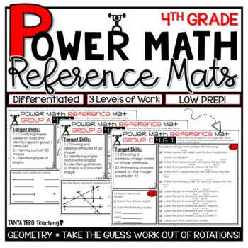 4th Grade Guided Math Reference Mats Geometry Standards 4.G.1