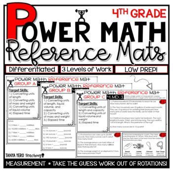 4th Grade Guided Math Reference Mats Measurement and Data Standards