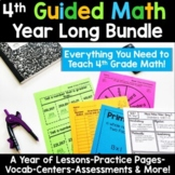 4th Grade Guided Math -Year Long Bundle