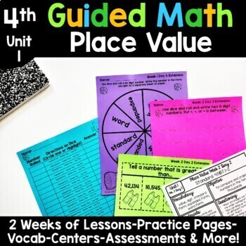 4th Grade Guided Math -Unit 1 Place Value