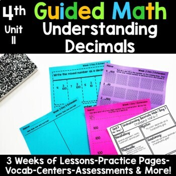 4th Grade Guided Math -Unit 11 Understanding Decimals