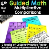 4th Grade Guided Math -Unit 4 Multiplication as Comparisons