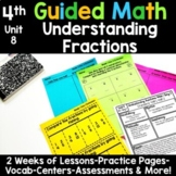 4th Grade Guided Math -Unit 8 Understanding Fractions