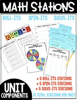 4th Grade Guided Math Yearlong Curriculum Bundle