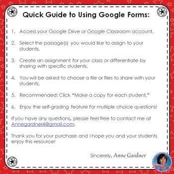 4th Grade Guided Reading Level P Passage: Google Forms™ {Reading Comprehension}