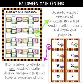 4th Grade Halloween Math Centers