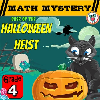4th Grade Halloween Math Mystery Game -  Halloween Heist Worksheets Activity