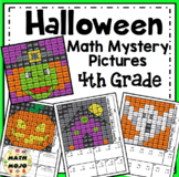4th Grade Halloween Math Mystery Pictures: Halloween Color