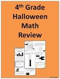 4th Grade Halloween Math Practice - Great for AIMSweb Practice