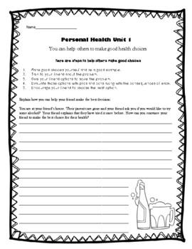 4th Grade Health - Unit 1: Personal Health