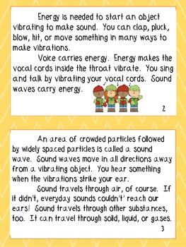 4th Grade Heat, Light, and Sound Printables