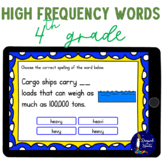 4th Grade High Frequency Words BOOM Cards