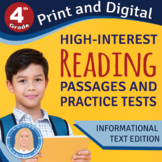 4th Grade High-Interest Informational Texts & PRACTICE TES