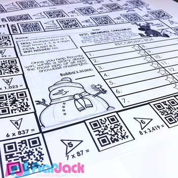 4th Grade Holiday QR Code Printables - Low Prep!