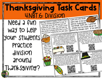 4th Grade Holiday Task Cards Growing Bundle