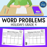 4th Grade Word Problems Holidays