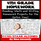 4th Grade Math, Reading and Writing Homework for the Entire Year!
