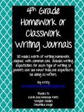 4th Grade Homework/Classwork Writing Journals