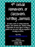 4th Grade Homework/Classwork Writing Journals