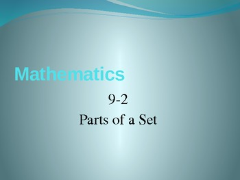 4th Grade Hought-Miff Fractions parts of a set