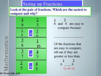 4th Grade Hought-Miff Fractions:Comparing Fractions