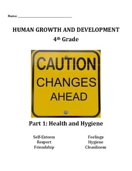 4th Grade Human Growth and Development: Hygiene and Health student packet