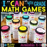 4th Grade I CAN Math Games   Math Centers   BUNDLE